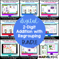 2 Digit Addition with Regrouping Google Slides and Google Forms