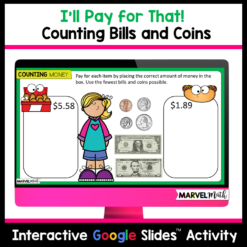 Counting Money - Counting Bills and Coins - TEKS 3.4C