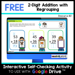 2 Digit Addition with Regrouping Activities FREE