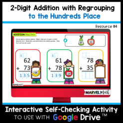 2 Digit Addition with Regrouping Digital Activities