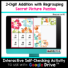 2 Digit Addition with Regrouping Digital Secret Picture Activities