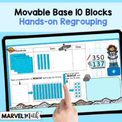 3 Digit Subtraction with Regrouping using Base 10 Blocks