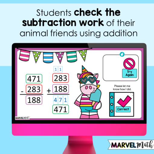 Check Subtraction using Addition