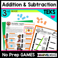 Addition and Subtraction Games No Prep TEKS