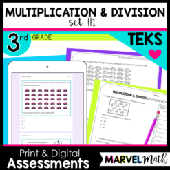 Multiplication and Division Tests with new STAAR question types