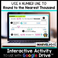 Round to the Nearest 1,000 using a Number Line