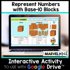Use Base 10 Blocks to Represent Numbers