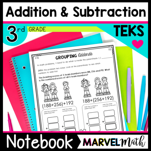 3rd Grade Addition and Subtraction Interactive Notebook