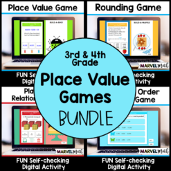 Digital Place Value Games for 3rd grade and 4th grade